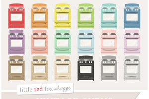 Vintage Oven Clipart