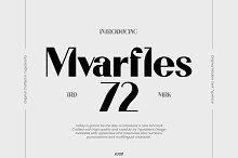 Mvarfles 72 by  in Fonts