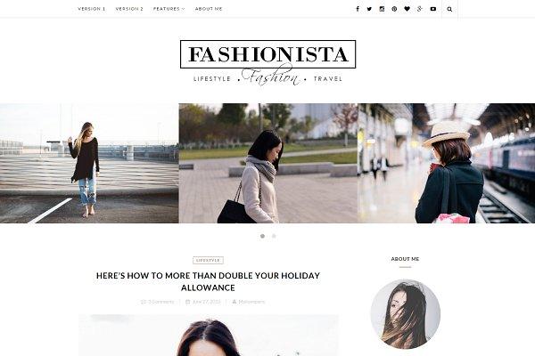 Fashionista - Wordpress blog theme