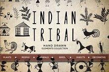 70 hand drawn tribal elements