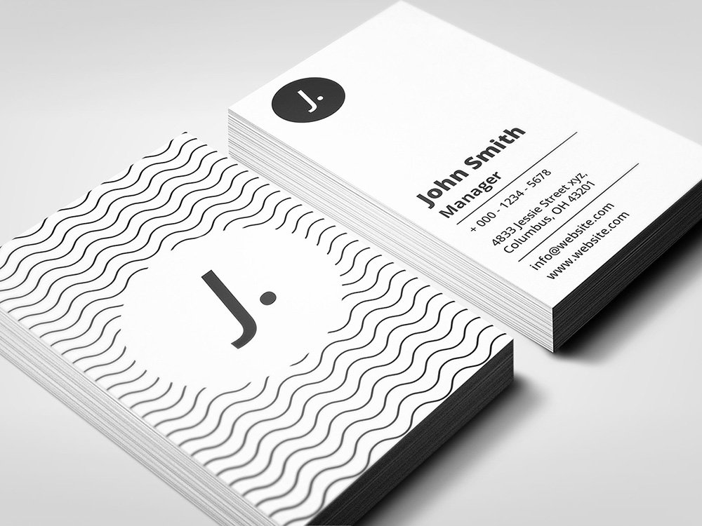 Simple business card business card templates creative market colourmoves