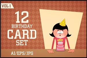 Creative Birthday Card Set Vol - 1