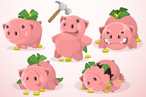 Set of Piggy Bank