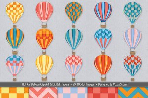 Hot Air Balloons and Chevrons