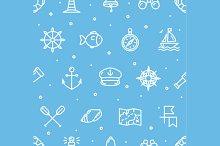 Nautical Sea Background Pattern.