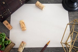 Paper and Corks Mockup