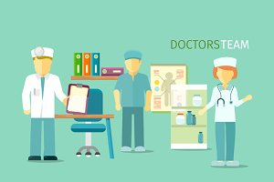 Doctors Team People Group