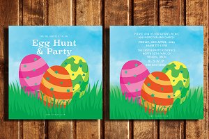 Egg Hunt & Party Invitation card