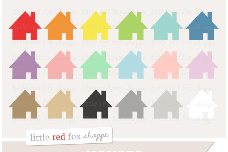 House Clipart Custom Designed Illustrations Creative Market
