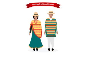 Mexican Traditional Clothes People