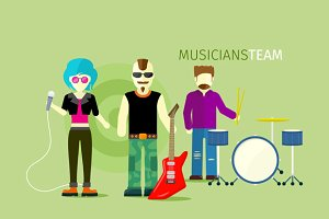 Musicians Team People Group