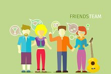 Friends Team People Group
