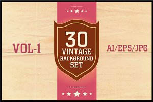 Vintage Background Set Vol - 1