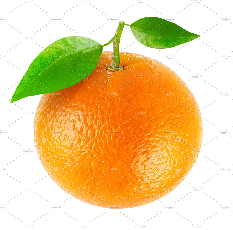 One Isolated Orange Fruit Food Amp Drink Photos Creative Market
