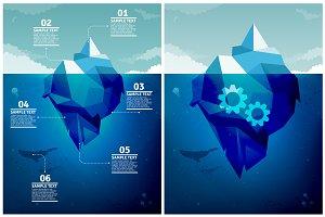 Icebergs Infographics