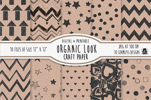 Organic Printed Craft Paper/Patterns