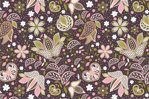 "Seamless pattern ""Flowers"""