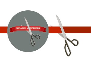 Grand Opening with scissors