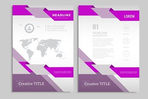 Vector brochure template. Vol.4