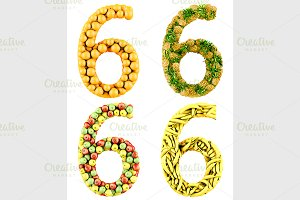 Number of 3d fruits