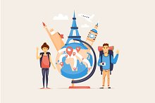 Travel the world, summer vacation.