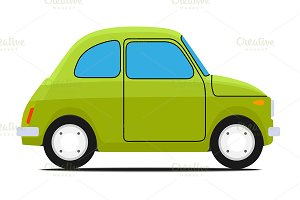 Green car.