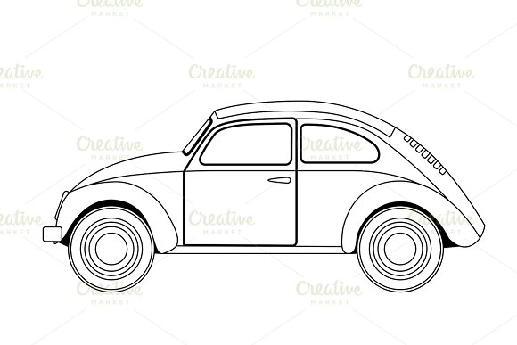 old car sketch ~ Graphics ~ Creative Market