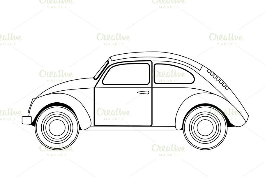 old car sketch | Custom-Designed Graphics ~ Creative Market