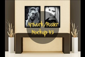 Wall art / Poster Mockup v3
