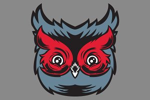 Vector Owl Head