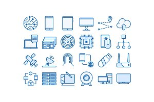 Tehnology icons