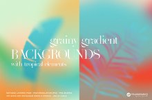 Tropical Grainy Gradient Backgrounds by  in Graphics