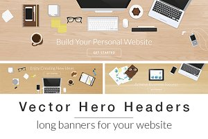 Vector Hero Headers Long banners