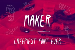 Maker Creepy Font, Raw-1