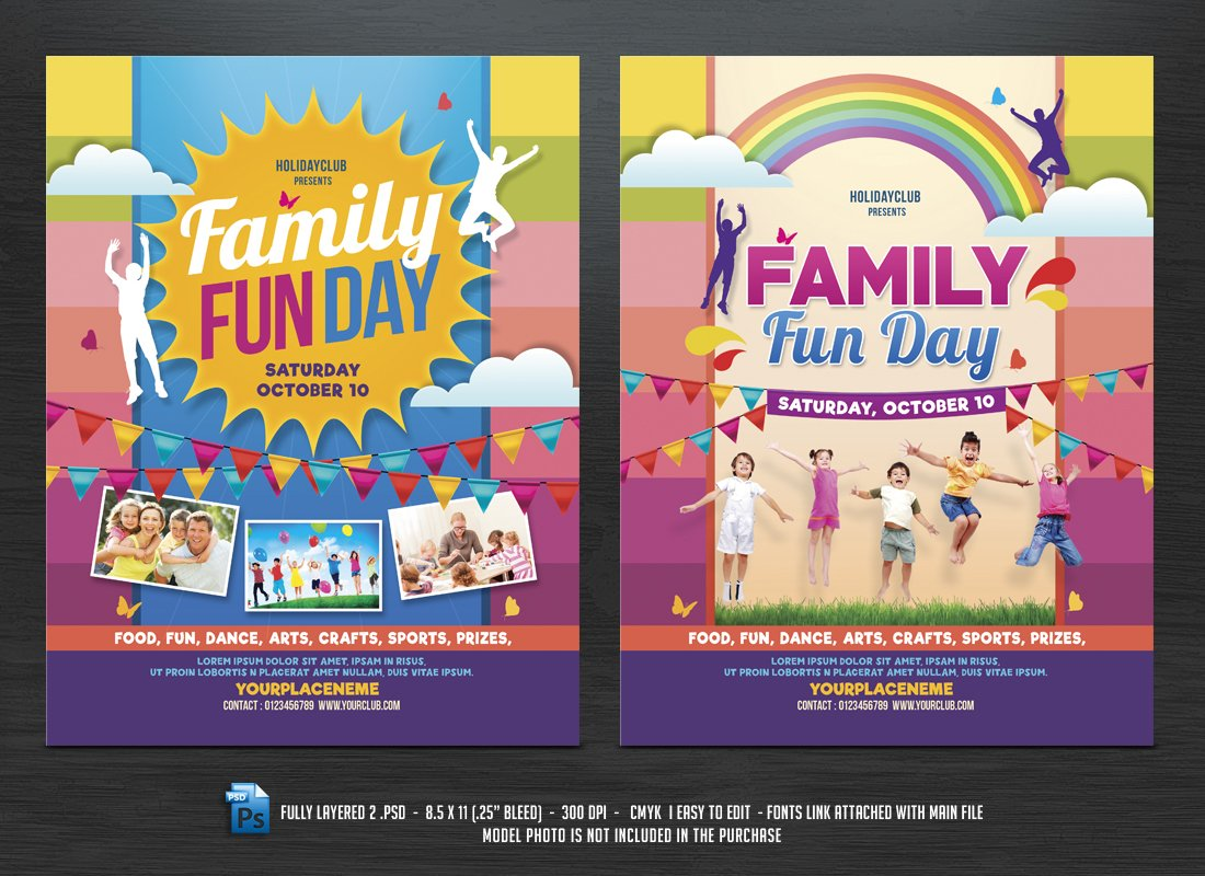 sports day poster template - family fun day flyers flyer templates creative market