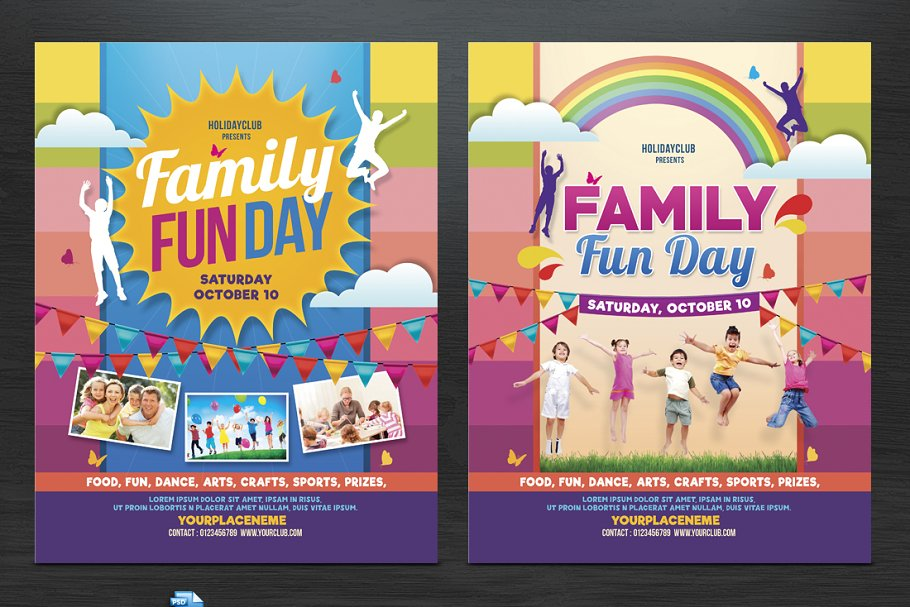 Family Fun Day Flyers Flyer Templates Creative Market Pro