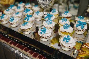 Candy bar on wedding ceremony