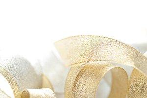 Abstract light golden ribbon backgro