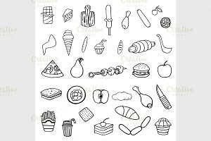 set of food theme