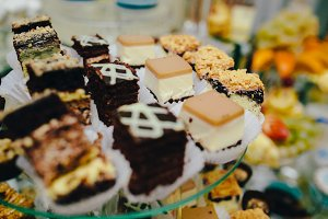 Candy bar on wedding ceremony