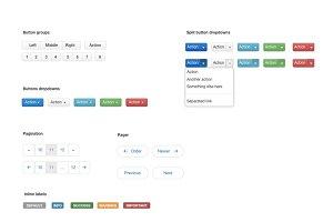Illustrator Twitter Bootstratp UI