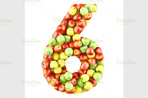 fruit number 3d