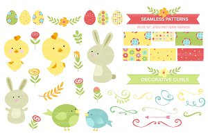 Cute Easter Clipart & Patterns