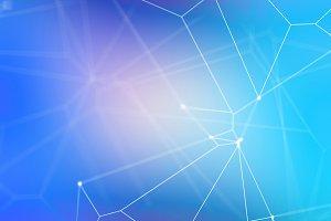 Vivid Blue Deep Network Background