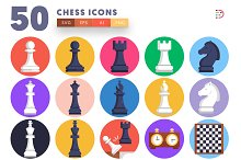 50 Chess Icons by  in Graphics