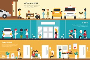 Medical Center vector illustration