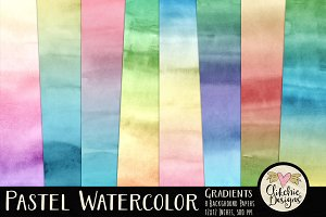 Pastel Watercolor Gradients Textures