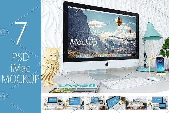 Download 7 PSD iMac Mockup + Bonus