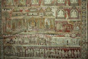 Buddhist wall murals
