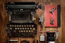 Flat lay Hipster vintage objects